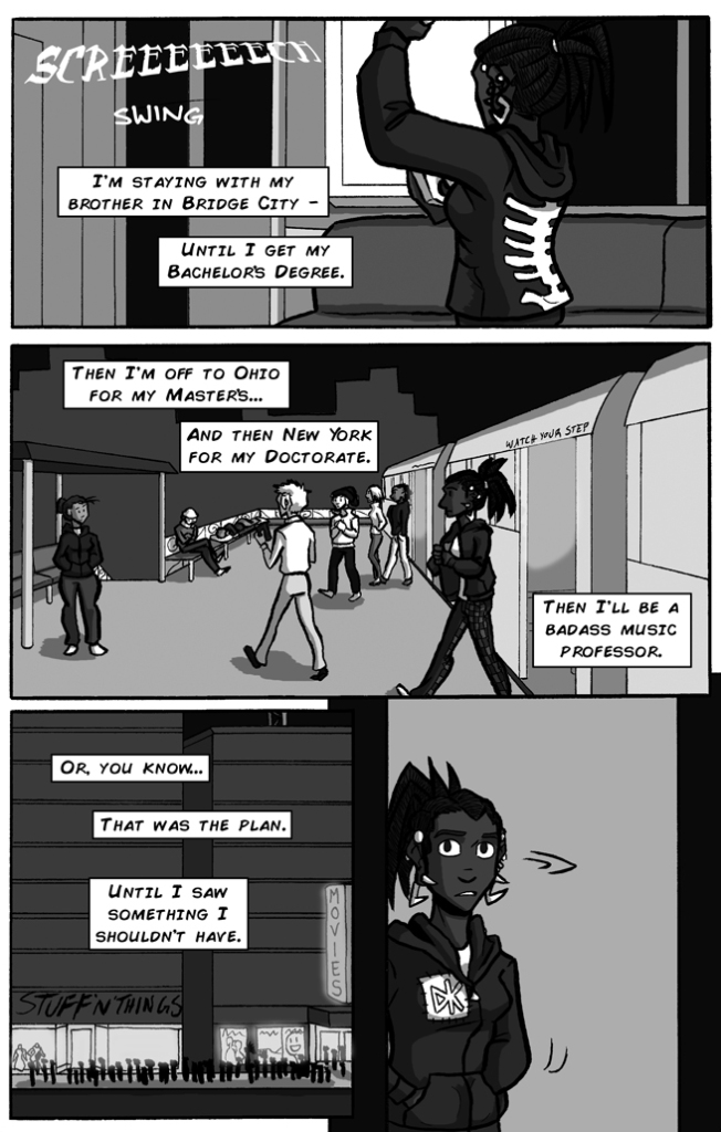 charlie and clow supernatural action webcomic page 2