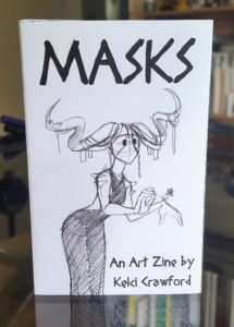 masks art zine
